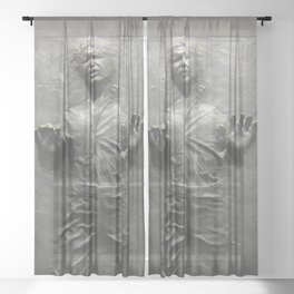 Han Solo Frozen in Carbonite Sheer Curtain