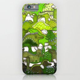 Green Dinosaur Gradient iPhone Case