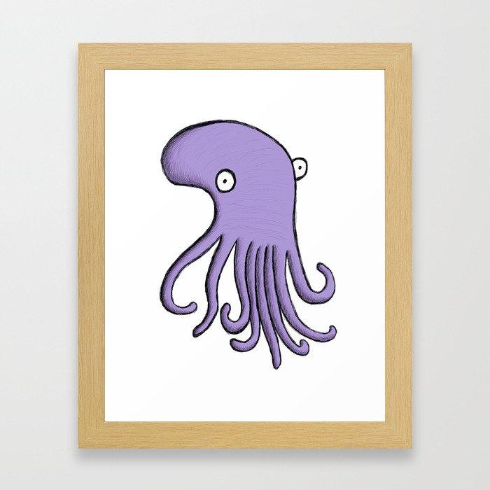 Purple Octopus Framed Art Print