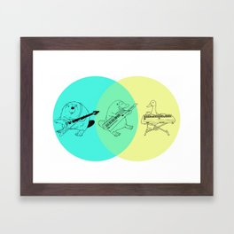 Keytar Platypus Venn Diagram Framed Art Print