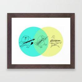Keytar Platypus Venn Diagram Framed Art Print