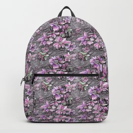 Early pink flowers Backpack