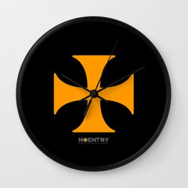 No-Entry Print #1 Wall Clock