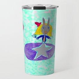 Alice   Up to the light sky Travel Mug