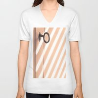 shadow V-neck T-shirts featuring Shadow by Maite Pons