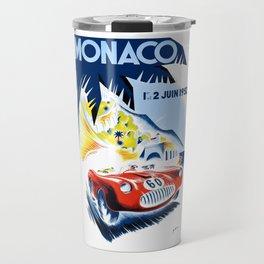1952 Monaco Grand Prix Race Poster  Travel Mug