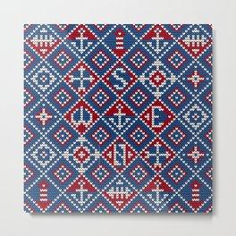Grandma's knitting pattern for Saylor's Ugly sweater #3 Metal Print