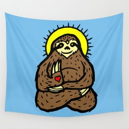 Buddha Sloth Wall Tapestry