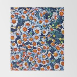 chrydsanthemum Throw Blanket