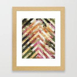 Blush Roses Collage Framed Art Print