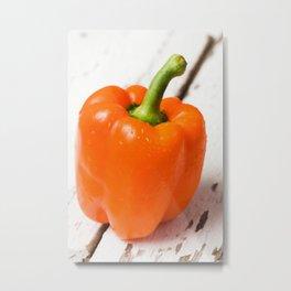 Orange Bell Pepper Metal Print