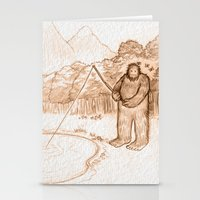 bigfoot Stationery Cards featuring Springtime Bigfoot by Monica Gallagher