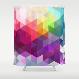 Pixel Prism Shower Curtain