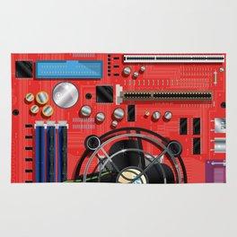 Computer Motherboard Electronics. Rug