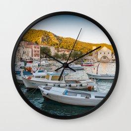 streets of Hvar Wall Clock