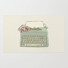 Retro typewriter Rug