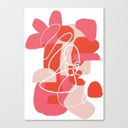 Shape Study in Pink Canvas Print