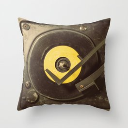 Vintage Tunes Throw Pillow