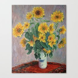 Claude Monet Bouquet Of Sunflowers 1881 Canvas Print