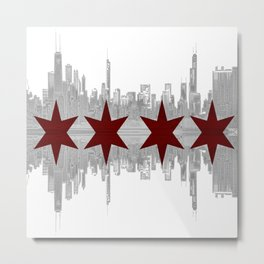The City By The Lake Metal Print