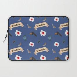 Clarke Griffin Wanheda Pattern Laptop Sleeve