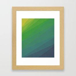 Shades of Deep Water Framed Art Print