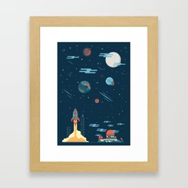 SPACE poster Framed Art Print