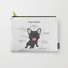 True Friends - Blue Frenchie Carry-All Pouch