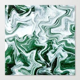 Green Ocean Marble Canvas Print