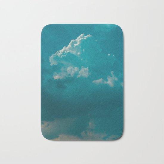up in the clouds Bath Mat