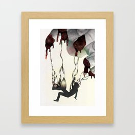 Rabbit in Your Headlights Framed Art Print