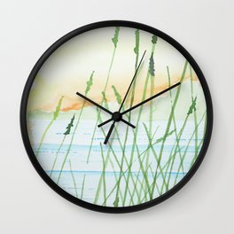 Reeds in a sunset Wall Clock