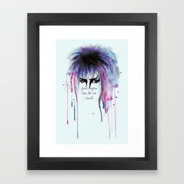 Your Eyes Can Be So Cruel Framed Art Print