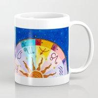 zodiac Mugs featuring Zodiac by Sandra Nascimento