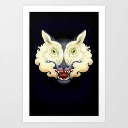 Wolf Lamb Art Print
