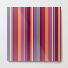 Stripe Marly Metal Print