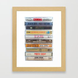 Hip Hip Cassettes Framed Art Print