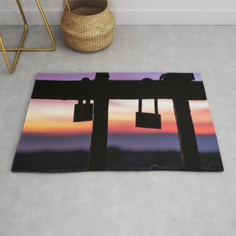 Seals of Love at Sunset. Rug