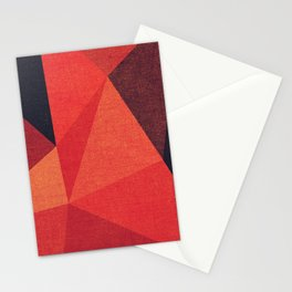 Abstract geometric patter.Triangle background Stationery Cards