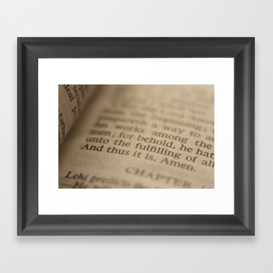 Conclusion Framed Art Print