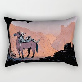 Reading Cowboy Rectangular Pillow