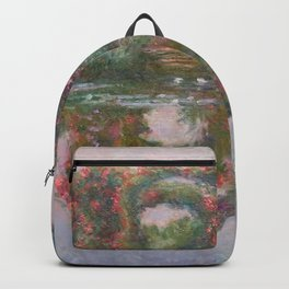 FLOWERING ARCHES IN GIVERNY - MONET  Backpack