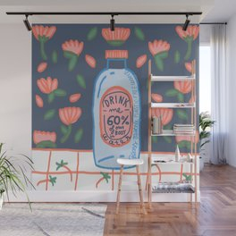 drink me - Remember to drink water, our body is 60% H2O Wall Mural