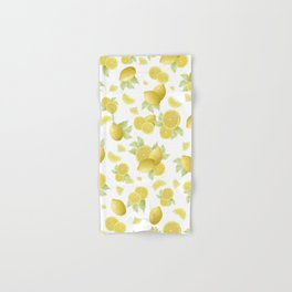 Summer Lemon Twist #1 #tropical #fruit #decor #art #society6 Hand & Bath Towel
