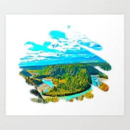 Crooked River 3 Art Print