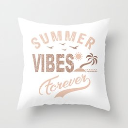 Summer Vibes Forever co Throw Pillow