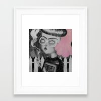 loll3 Framed Art Prints featuring Strange and Unusual by lOll3