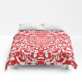 Illusionary Daisy (Red) Comforters