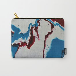 We Could Be Heroes- Red, White and Blue Modern Art Print Carry-All Pouch