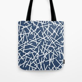 Kerplunk Navy and White Tote Bag